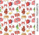 internal human organs with... | Shutterstock .eps vector #702189178