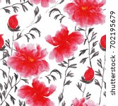 abstract floral seamless... | Shutterstock .eps vector #702195679