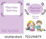 kids book cover design | Shutterstock .eps vector #702196879