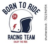 born to ride slogan and doodle... | Shutterstock .eps vector #702196954