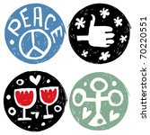 abstract hand drawn icons ... | Shutterstock .eps vector #70220551
