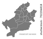 frankfurt am main city map with ... | Shutterstock .eps vector #702206818