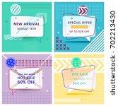 set of trendy abstract... | Shutterstock .eps vector #702213430