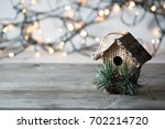 beautiful christmas composition ... | Shutterstock . vector #702214720