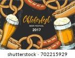 oktoberfest celebration... | Shutterstock .eps vector #702215929