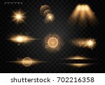 set. shining star  the sun... | Shutterstock .eps vector #702216358