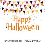 halloween carnival with flags... | Shutterstock .eps vector #702219460