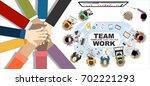 flat design illustration... | Shutterstock .eps vector #702221293
