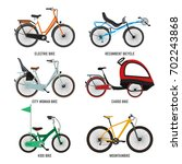 different type of bicycles for... | Shutterstock .eps vector #702243868