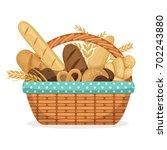 vector illustration for bakery... | Shutterstock .eps vector #702243880