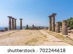 ruins of the temple of athena... | Shutterstock . vector #702244618