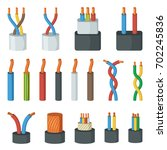 electrical cable wires ... | Shutterstock .eps vector #702245836