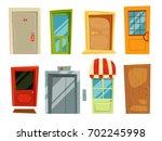decorative doorway and... | Shutterstock .eps vector #702245998