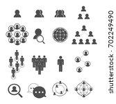 social network icons set vector | Shutterstock .eps vector #702249490