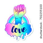 equal love. inspirational gay... | Shutterstock .eps vector #702255103
