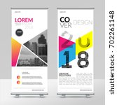 business roll up design... | Shutterstock .eps vector #702261148