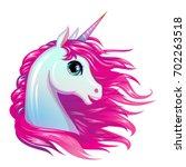 cute magic vector unicorn...   Shutterstock .eps vector #702263518
