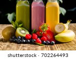 fresh kiwi  raspberry ... | Shutterstock . vector #702264493
