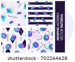 set of seamless patterns.... | Shutterstock .eps vector #702264628