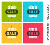sale banners or badges for... | Shutterstock .eps vector #702266650