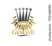 royal crown emblem. heraldic...   Shutterstock . vector #702268084