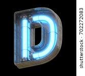 metallic futuristic font with...   Shutterstock . vector #702272083
