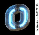 metallic futuristic font with... | Shutterstock . vector #702272290