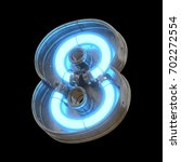metallic futuristic font with... | Shutterstock . vector #702272554