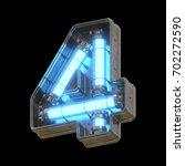 metallic futuristic font with... | Shutterstock . vector #702272590