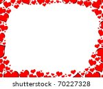 Love Red Hearts Border Frame...
