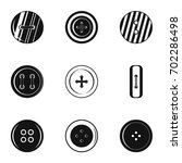 sewing clothes button icon set. ... | Shutterstock .eps vector #702286498
