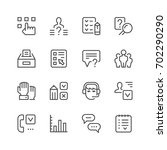 set line icons of survey... | Shutterstock .eps vector #702290290