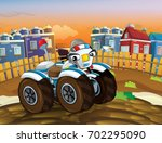cartoon police motorbike like... | Shutterstock . vector #702295090