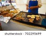 mexico city street food vendor | Shutterstock . vector #702295699