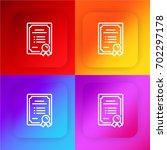 certificate four color gradient ...