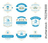 oktoberfest celebration beer... | Shutterstock .eps vector #702298300