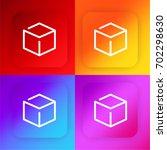 3d cube four color gradient app ...