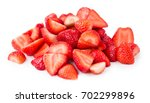 Sliced Strawberries Isolated On ...