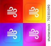 wind sign four color gradient...