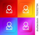 male avatar four color gradient ...