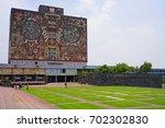 central university city campus... | Shutterstock . vector #702302830