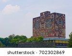 central university city campus... | Shutterstock . vector #702302869