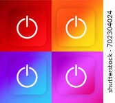 power button four color...