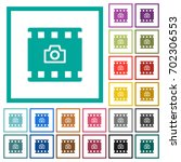 grab image from movie flat... | Shutterstock .eps vector #702306553