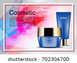 cosmetic ads poster template ... | Shutterstock .eps vector #702306700