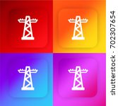 transmission tower four color...