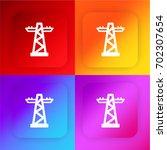 transmission tower four color...
