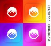 boy face four color gradient...