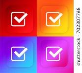 check mark four color gradient...