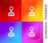 stamp four color gradient app...